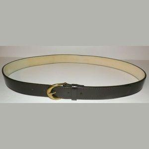 Size 36 Cole Haan Dark Brown Belt Brass Buckle